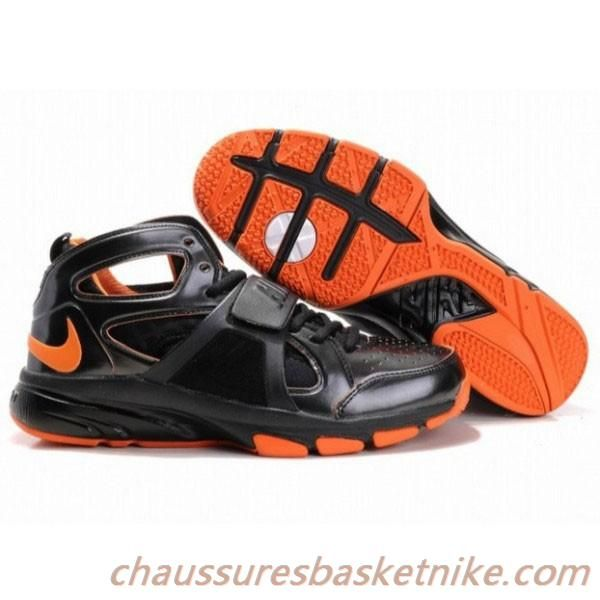 super popular b361c fe3ec ... Nike Zoom Huarache Trainer Mid Hommes Basketball Chaussures Noir Orange  Nike Air Jordan ...