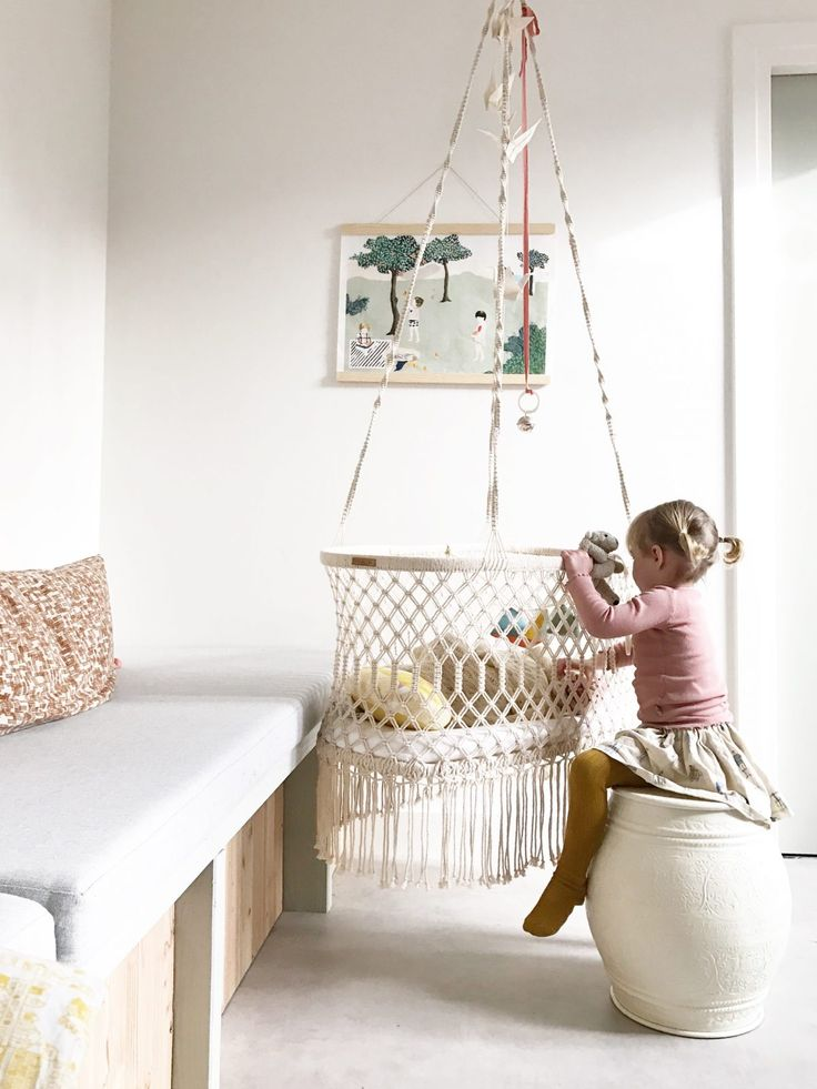 The hanging bassinet is the perfect cradle for your newborn baby. The bassinet from rock that label is 100% handmade of …
