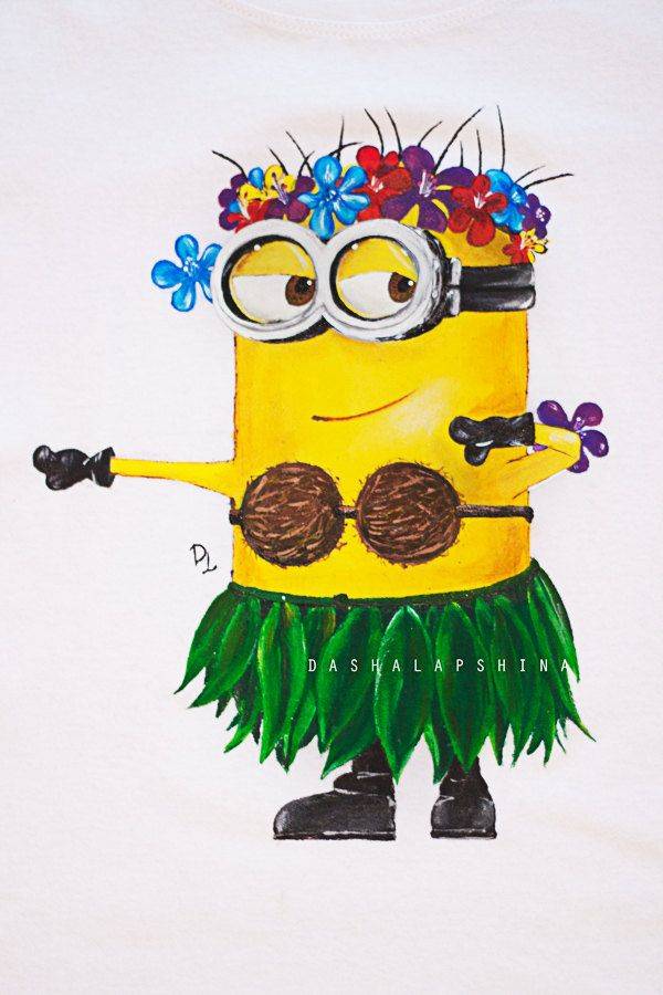 Hand painted Gift for Women Kids and Men Tshirt: Minion HAWAII DESPICABLE ME (45.00 USD) by SpringHoliday