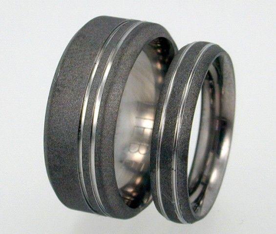 Wedding Ring Set Sandblasted Anium Rings By Jewelrybyjohan 197 00