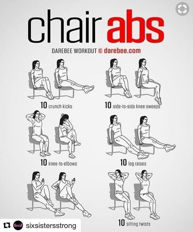 Abs Workout Chair Exercises For Abs Quick Workout Abs Workout