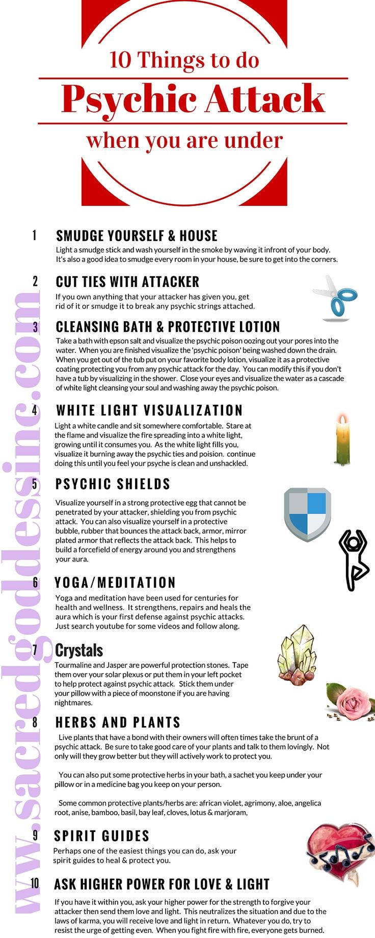 Yesterday I went over 10 Signs of Psychic Attack, so it seems fitting to talk about what you can do to protect yourself if you feel you are under Psychic Att