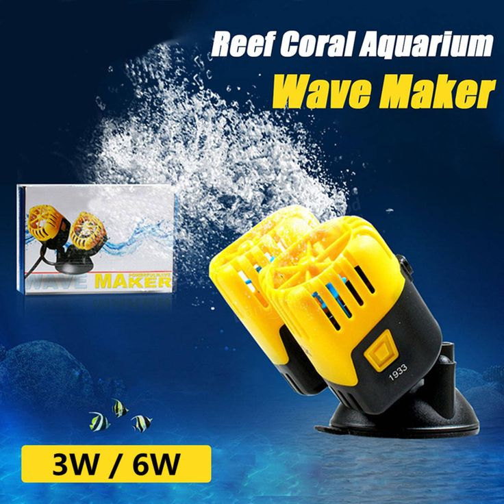 3W 6W Wave Maker 2x 200L/H Wavemaker Wave Making Maching Reef Coral Aquarium Fish Tanks