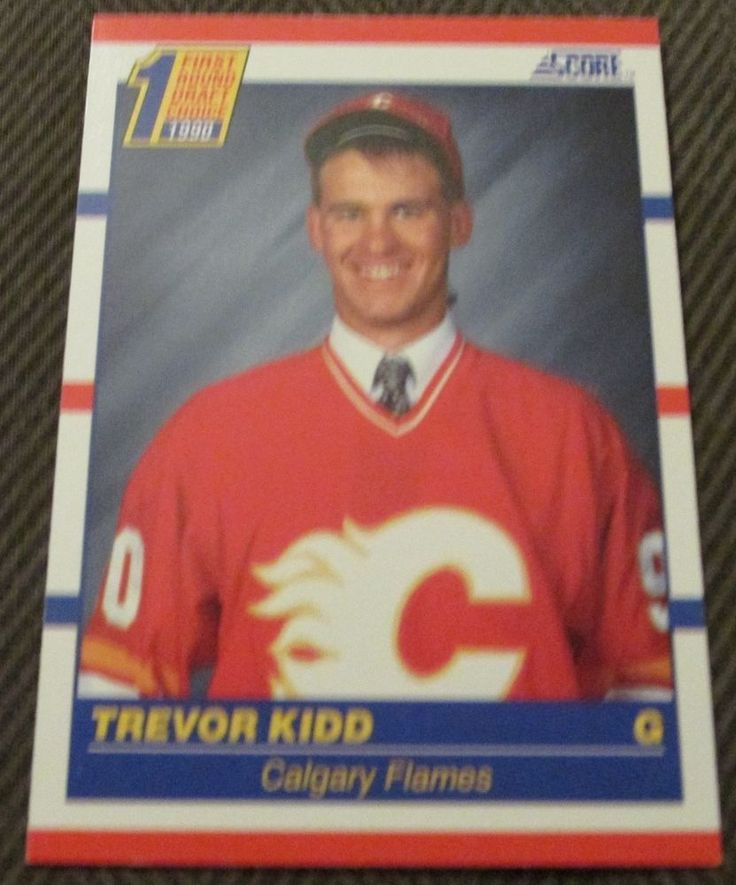 1990 SCORE TREVOR KIDD ROOKIE CALGARY FLAMES #CalgaryFlames