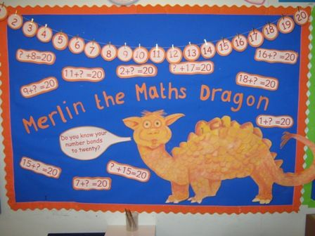 Merlin the Maths Dragon, Number Bonds to 20, Simmondley Primary School Website