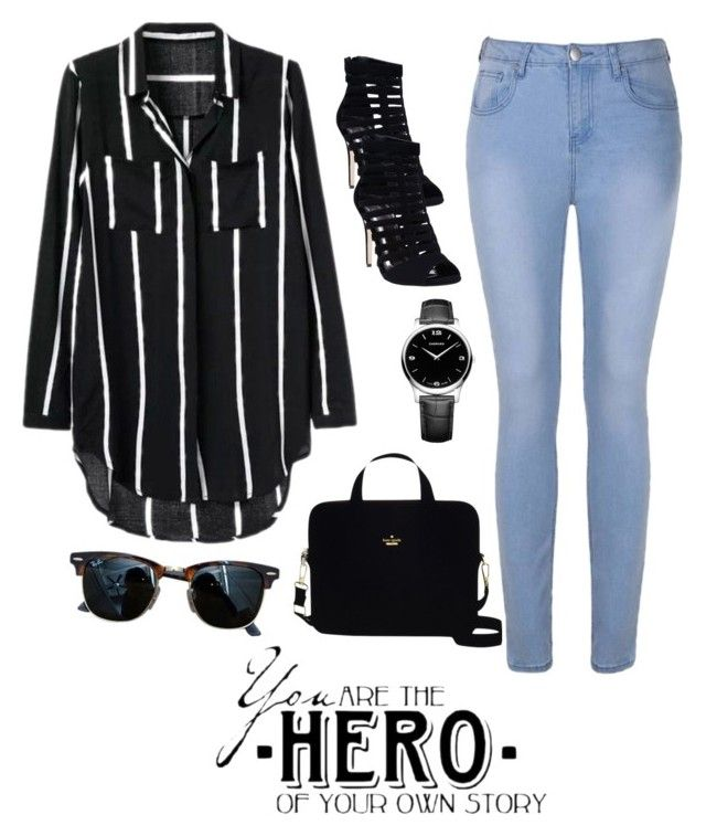 """Primsus #13"" by oktaeprimsus on Polyvore featuring Ally Fashion, Wet Seal, Kate Spade, Ray-Ban and Chopard"