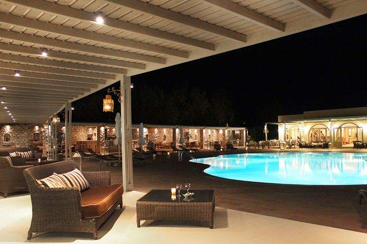 The Pool Area by night !!