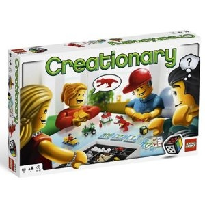 "Game Time: ""Creationary"" -- have the kids use lego blocks to build something and the other team members must guess - like charades/pictionary but with legos..."