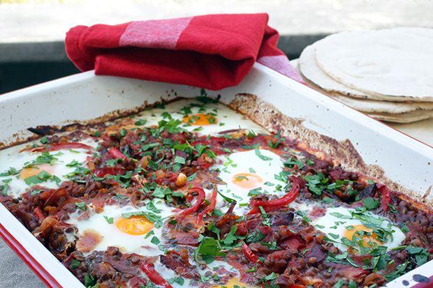 Spiced baked eggs