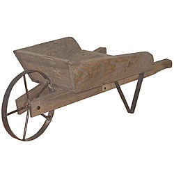 @Overstock.com - Wheelbarrow Decoration - Stylish antique wheelbarrow perfect for showcasing flowers, plants and other seasonal decorDisplay accessory constructed of iron and high-quality distressed pine with a smooth finish Unique planter for the porch, patio or flower garden  http://www.overstock.com/Home-Garden/Wheelbarrow-Decoration/3465608/product.html?CID=214117 $48.49