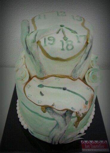 Salvador Dali melting clock cake