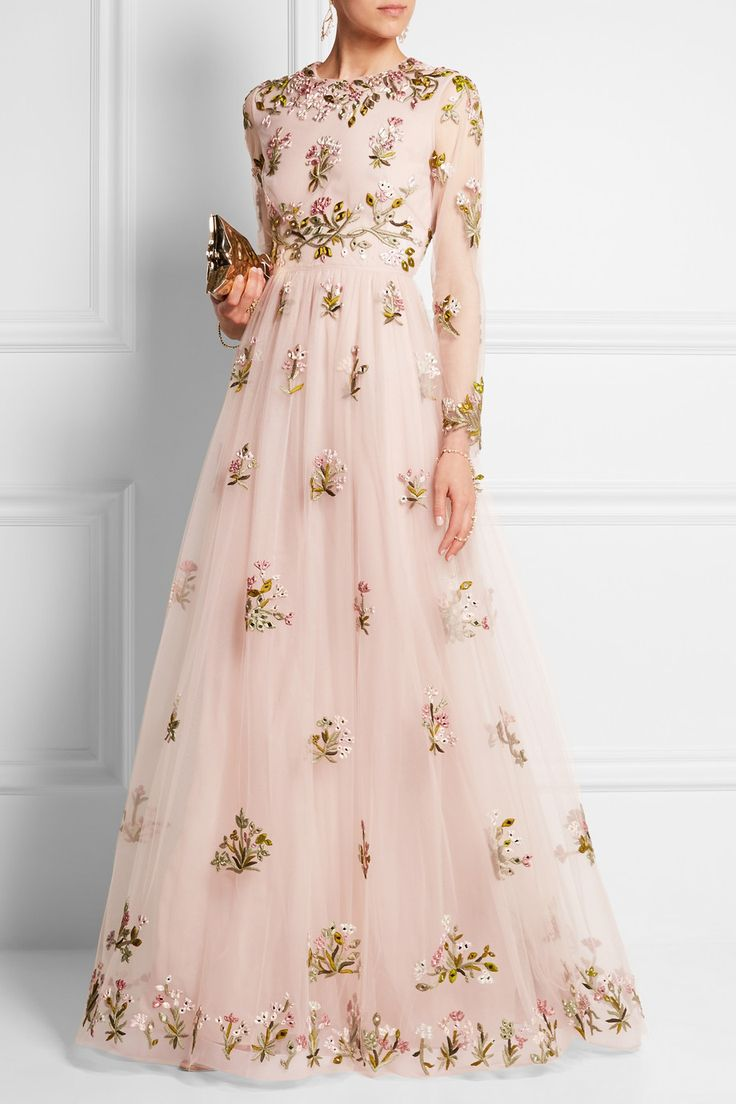 Valentino | Embellished embroidered tulle gown | NET-A-PORTER.COM