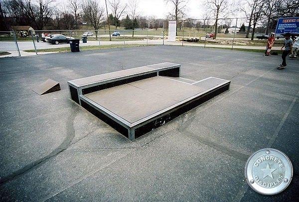 Beech Grove Skate park - Beech Grove, Indiana, U.S.A.