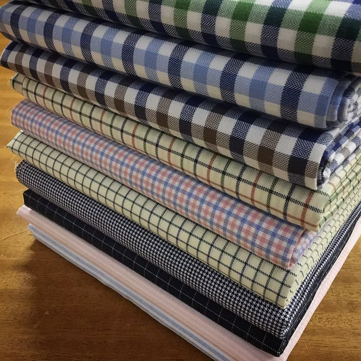 Great assorted stack ordered by a good bespoke client of ours- lots of new brushed cottons in there👌🏻#acornfabrics #bespoke #shirt #fabrics #brushed #cotton #shirtings