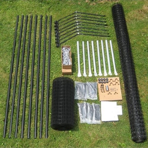 This is out 100 39 free standing cat fence kit create a for Free standing fence diy