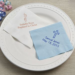 Personalized Christening Day Party Napkins - 13509D