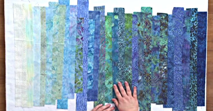 Learn to make a landscape quilt out of small strips in this tutorial!