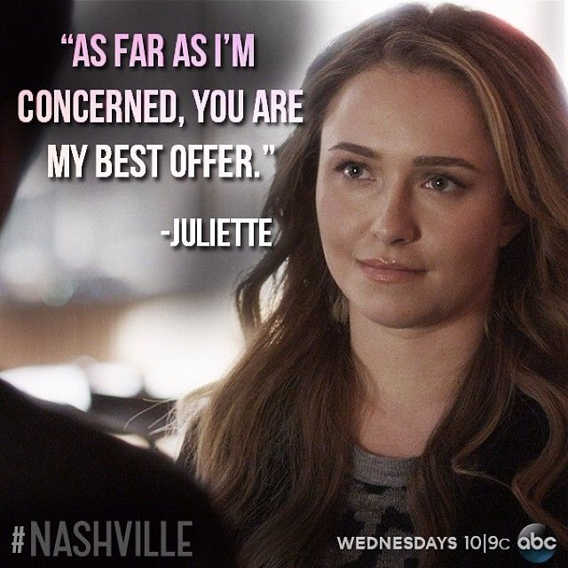 Nashville - Juliette to Avery  (...her eyebrows are awesome!)