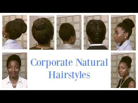 Corporate look for short and medium natural hair || Professional styles for short natural hair - YouTube