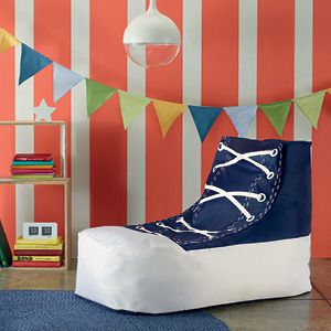 This Sneaker bean bag cover is so comfortable and kids will just love the super-cool design. The perfect design for relaxing in the bedroom, rumpus room or family living areas.