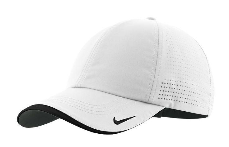 Nike Golf - Dri-FIT Swoosh Perforated Cap. 429467 aWhite