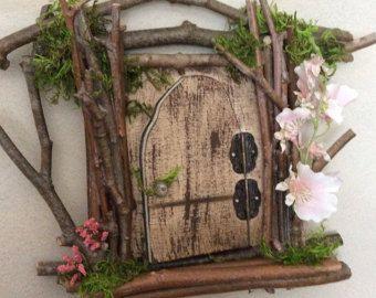Fee Tür ~ jeder eine Art ~ Handcrafted durch Olive, Fairy Zubehör, Fairy-Tür, die geöffnet wird, versiegelt für Outdoor-optionale Anzeige
