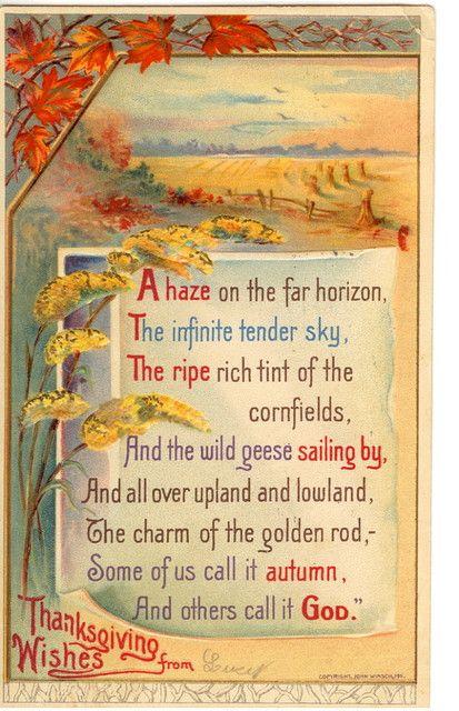 Vintage Thanksgiving Postcard ... Beautiful