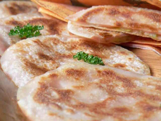 ❤ 餃子の皮のまん丸ハムチーズサンド ❤の画像