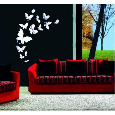 Samolepka motýle zrkadlo silver. Rozmer 45x45cm  Kód: SV000003S -VER  Stav: Nový produkt  Dostupnosť: Skladom  Zrkadlové samolepky a nálepky sú krásnou dekoráciou interiéru. Môžu poslúžiť ako zrkadlo a zároveň oživia stenu Vášho domu či bytu.