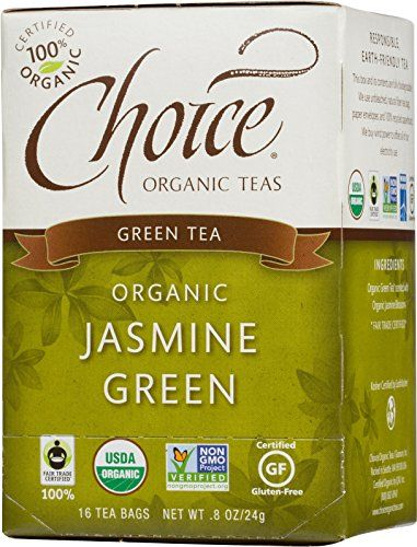 Choice Organic Jasmine Green Tea, 16-Count Box (Pack of 6) * Check this useful article by going to the link at the image.