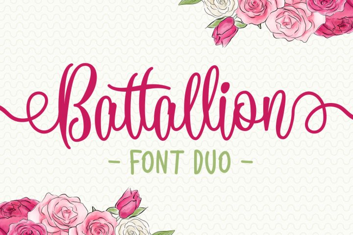 SALE $1 - Battallion Font Duo By Subqi Std