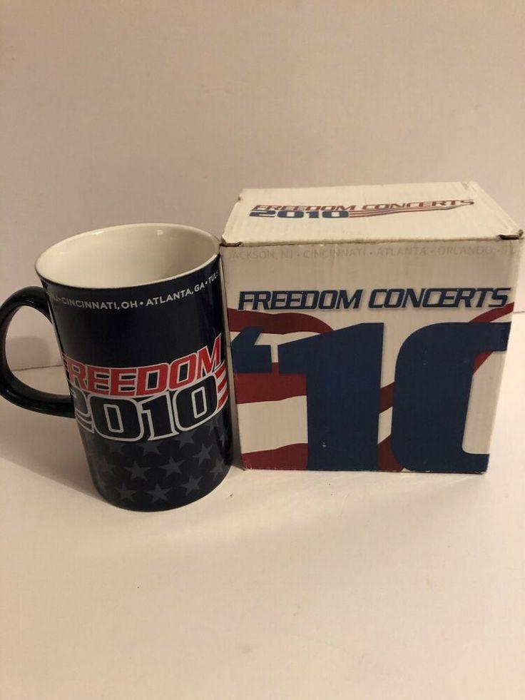 Freedom concerts 2010 coffee mug sean hannity new in box