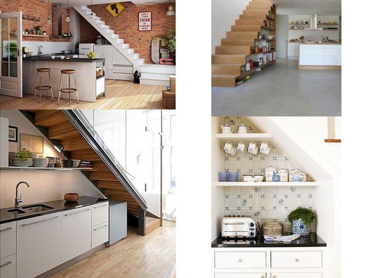 M s de 25 ideas incre bles sobre cocina debajo de for Escalera de cocina