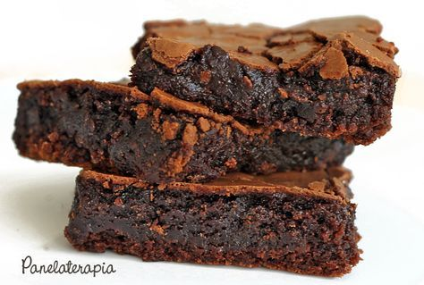 PANELATERAPIA - Blog de Culinária, Gastronomia e Receitas: Brownie de Chocolate