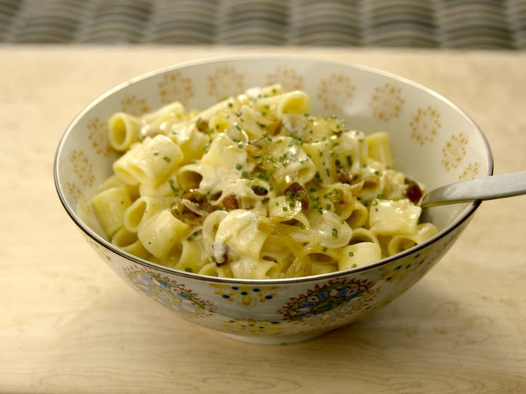Sweet Onion Carbonara recipe from Giada De Laurentiis via Food Network
