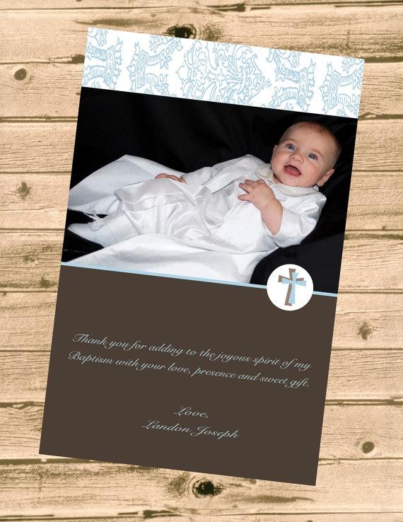 Baptism Thank You-Printable