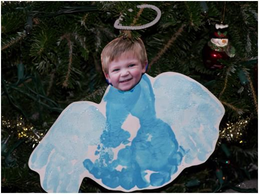 footprint angel ornament