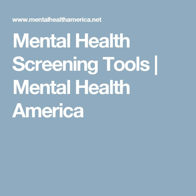 mental health screening tools pdf
