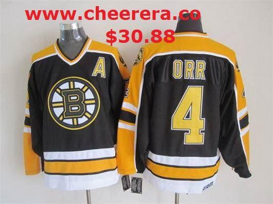 cheap for discount e260c 0deb5 mens boston bruins 4 bobby orr 1967 68 black ccm vintage ...