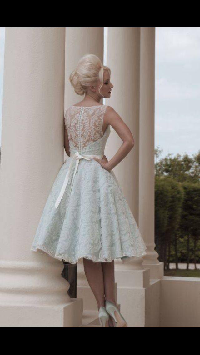 Little blue wedding dress from House of Mooshki