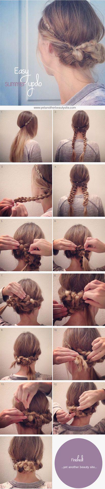 Braided headband updo how to
