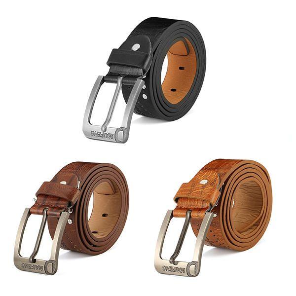 108CM Mens Retro Cowboy Belt Leisure Wild Hollow Belt at Banggood