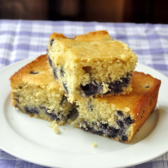Blueberry Snack Cake - a.k.a. Baked Newfoundland Blueberry Duff - I cannot count the hundreds of times I have made this simple, moist, delicious little snack cake with an abundance of wild Newfoundland blueberries baked right in.