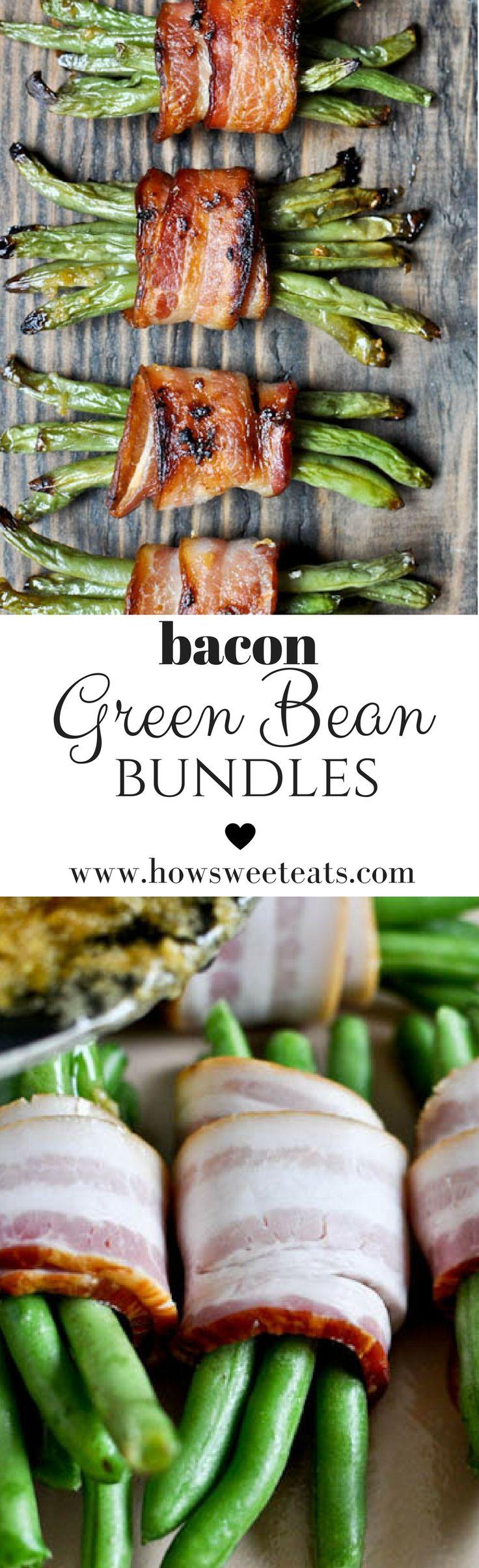 Bacon Green Bean Bundles I howsweeteats.com @howsweeteats