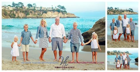 Extended family portraits in Laguna Beach Crescent Bay_428