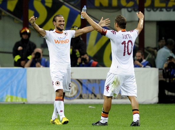 Inter Roma 1-3 : Osvaldo e Totti