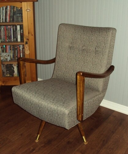 My 1950 Chair That I Had Recovered. It Was The Teal Green But Wasnu0027t In The  Best Shape. Nothing Beats Old Furniture For Comfort And Style.