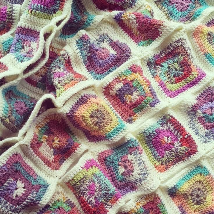 17 Best images about afghans crocheted with variegated ...