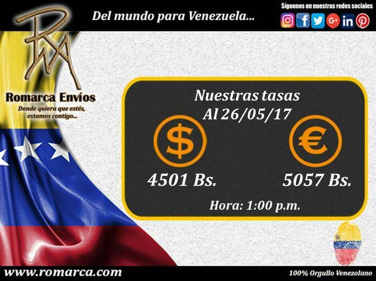 📌Hoy ofrecemos una tasa de cambio a la 1:00pm hora Este #Usa ➡ #Venezuela 🕙. Nuestro sitio web 📲 www.romarca.com ya se encuentra operarivo. #VenezolanosEnElMundo #Polonia #Ucrania #Belgica #Francia #Italia #España #Grecia