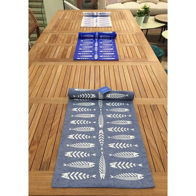 Our placemats in store! #thebluewhite #placemats #fish #summer #greece #table #food